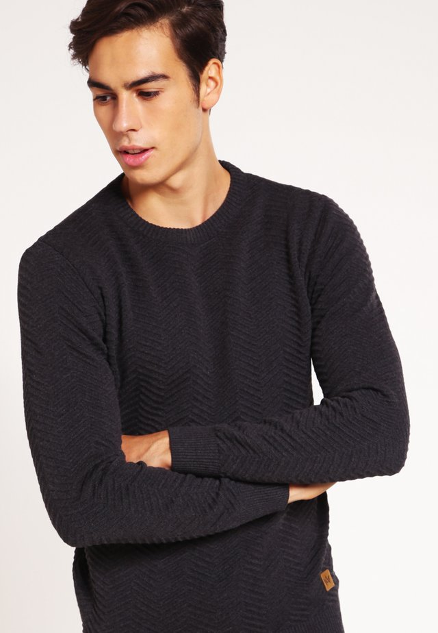 CARLO - Strickpullover - charcoal mel