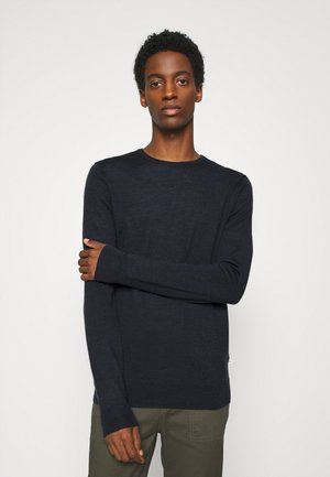 JOHS CREW NECK  - Strikkegenser - dark navy