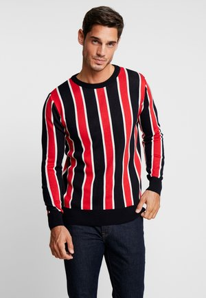 RONNIE - Pullover - red/navy