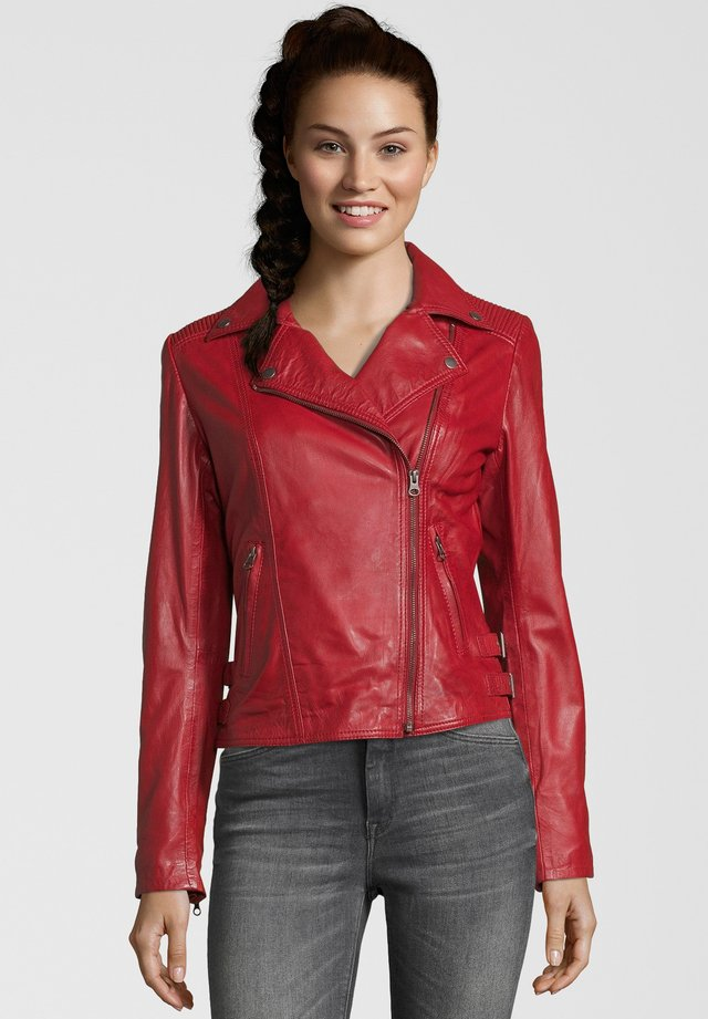 FAME - Leather jacket - red