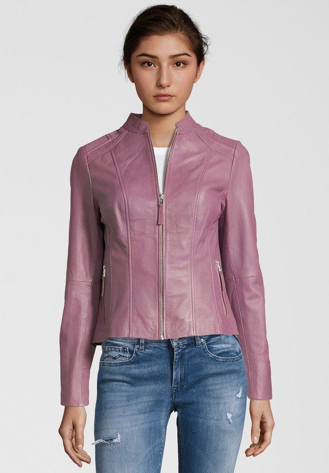 PAULINA - Leather jacket - berry