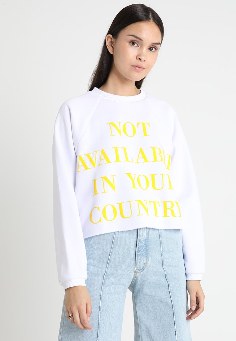 Ksenia Schnaider - NOT AVAILABLE IN YOUR COUNTRY CROPPED - Sweatshirt - white/yellow