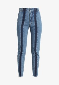 Ksenia Schnaider - SLIM JEANS WITH FRONT STRIPES - Slim fit jeans - medium blue - 4