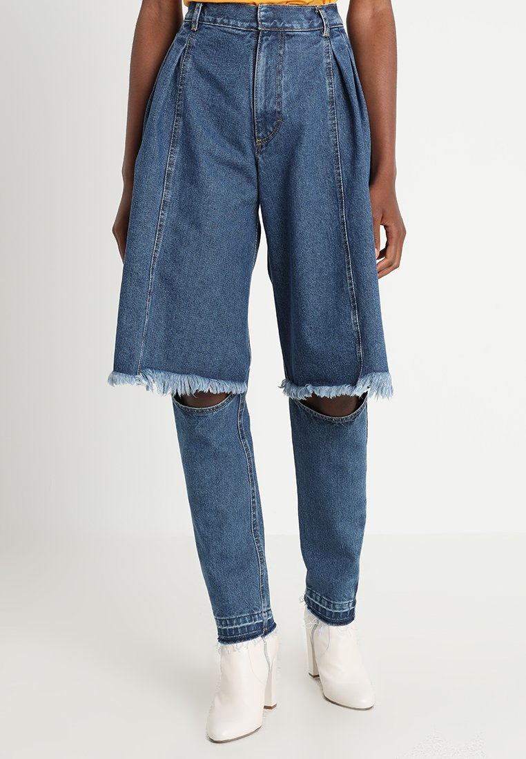 Ksenia Schnaider - CONTRAST SIDES - Jeans Slim Fit - medium blue