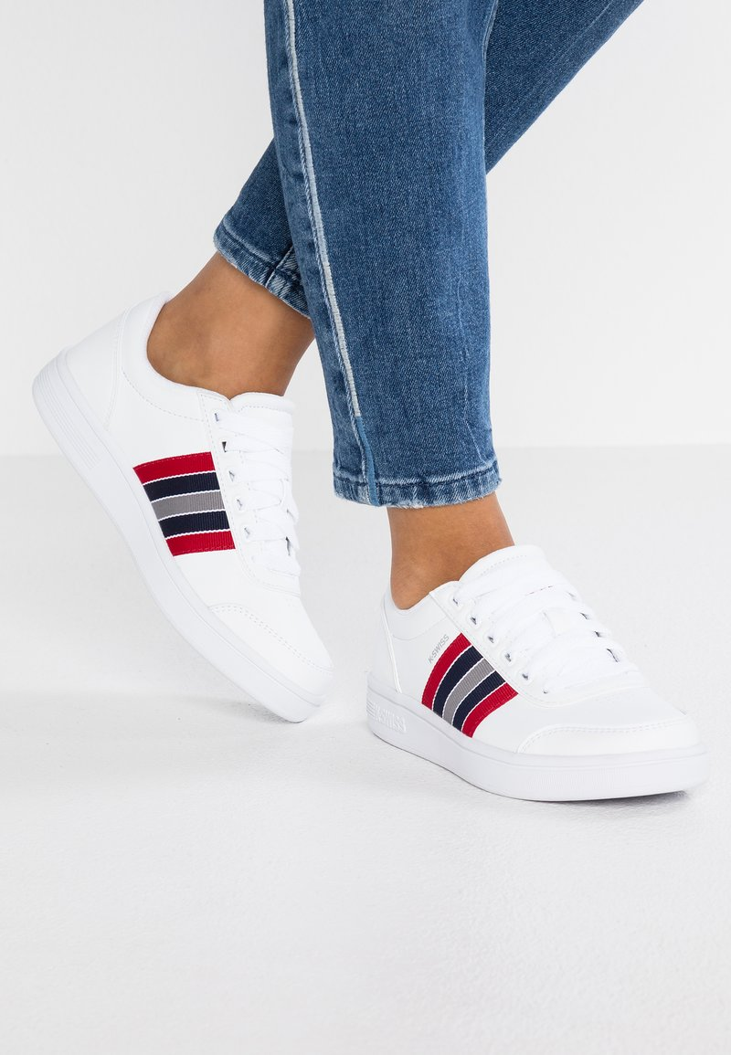 K-SWISS - COURT CLARKSON - Sneakers laag - white/red/blue
