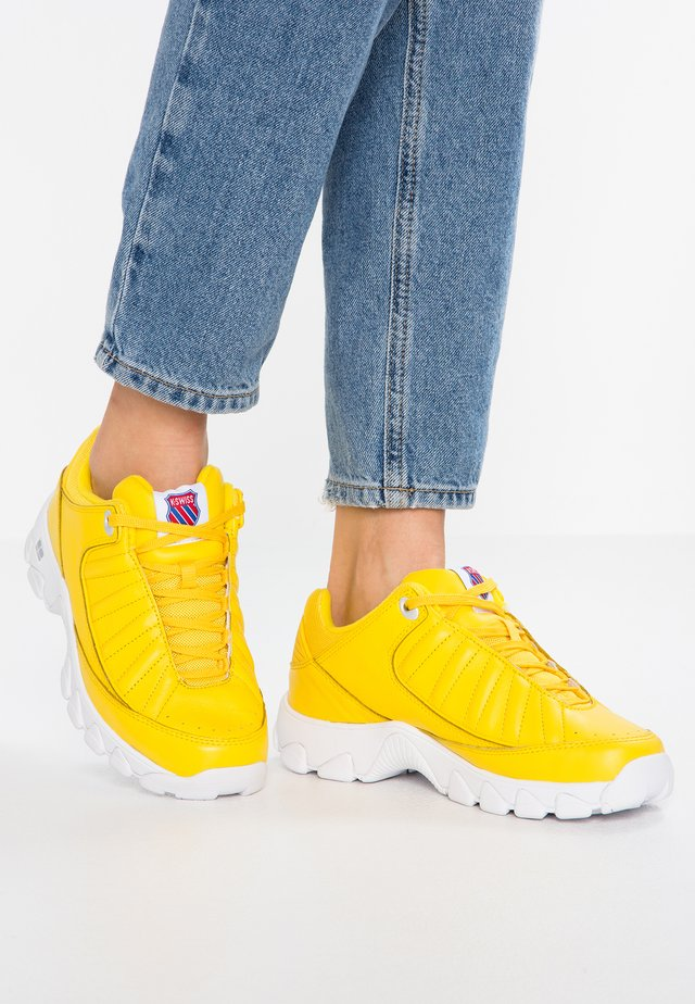 HERITAGE - Sneaker low - cyber yellow/white