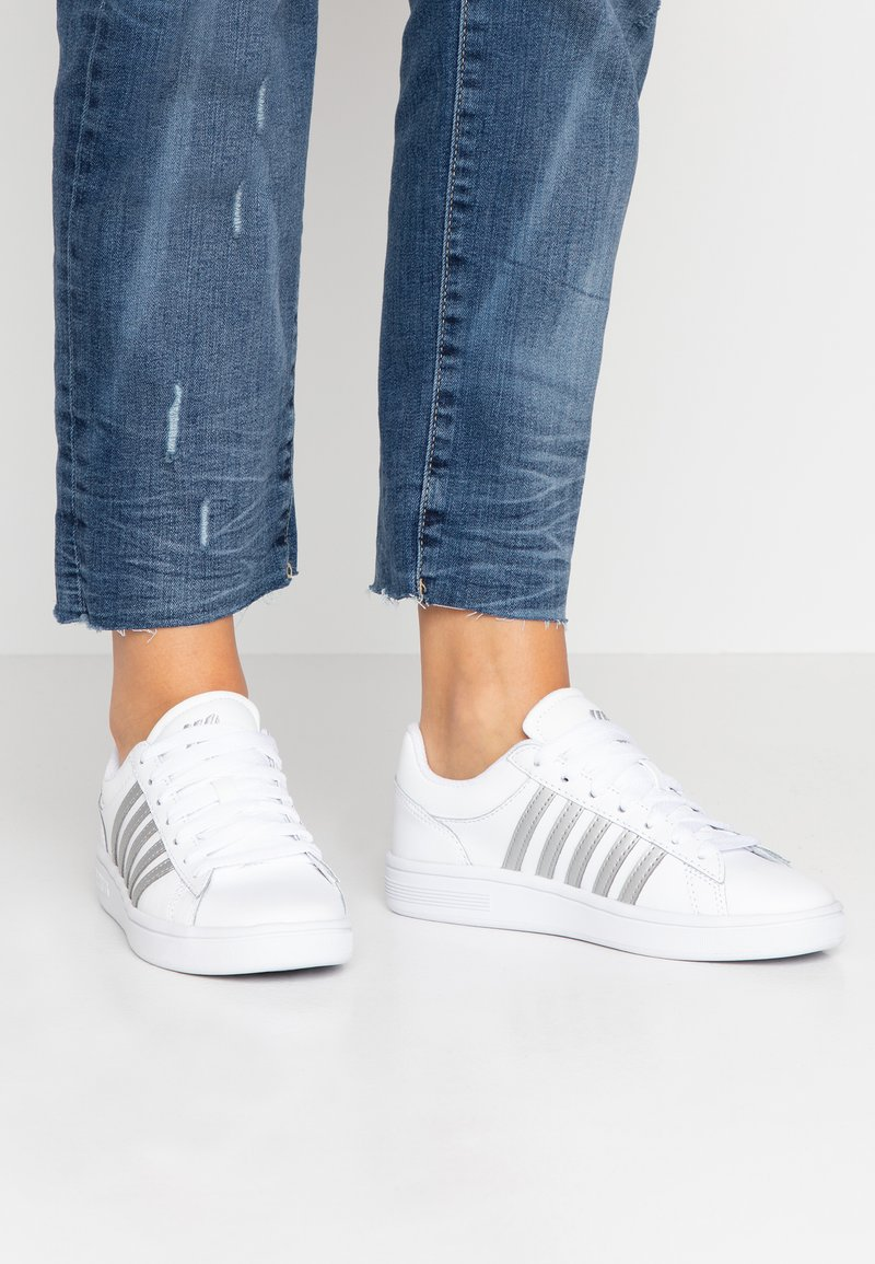 K-SWISS - COURT WINSTON - Trainers - white/silver