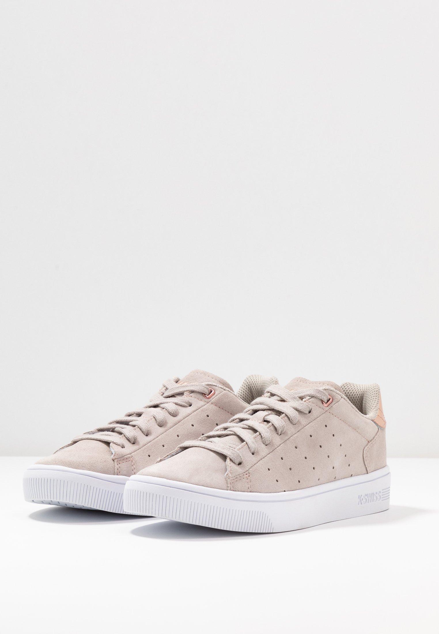 K-SWISS COURT FRASCO - Sneakersy niskie - silver cloud / rose gold