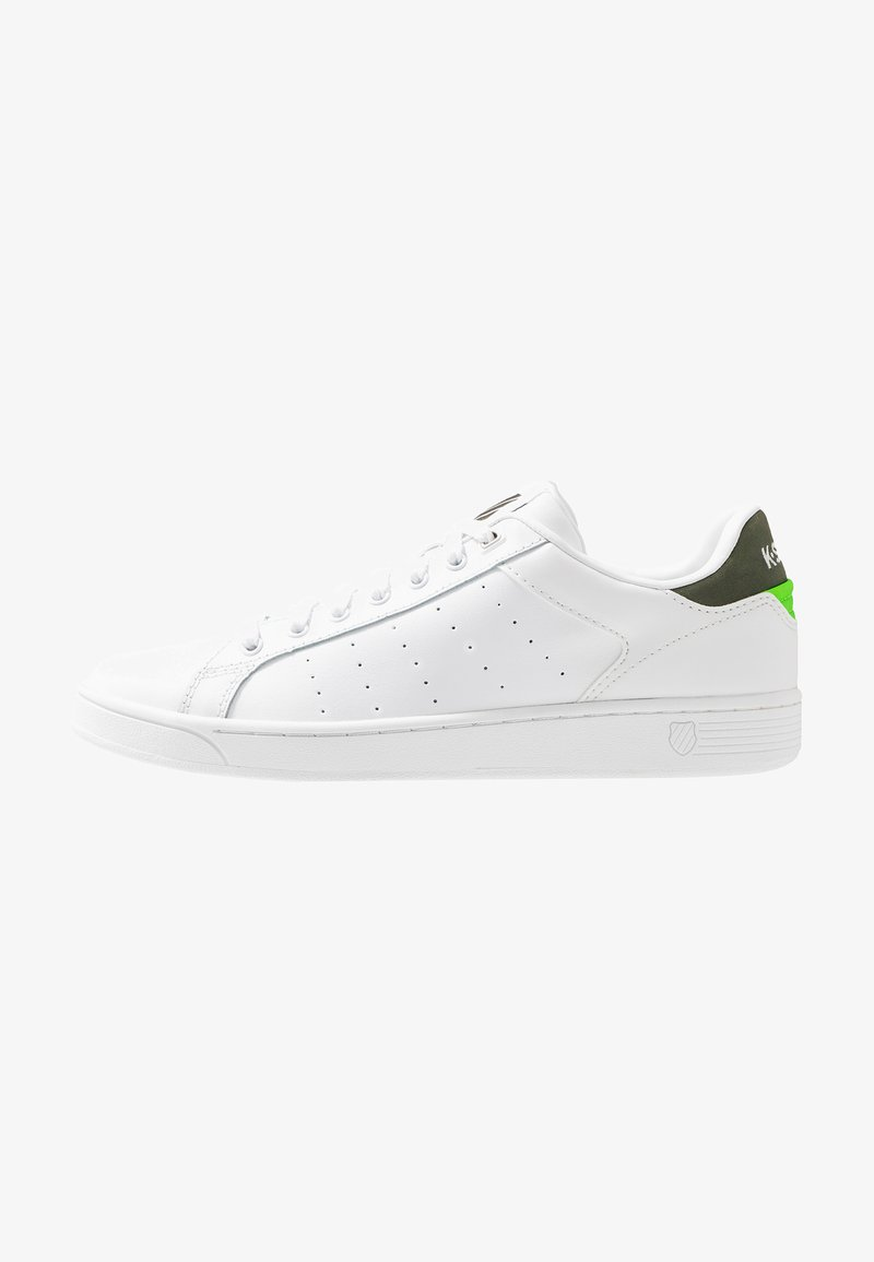 K-SWISS - CLEAN COURT  - Tenisky - white/rifle green/neon green
