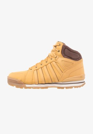 NORFOLK - Sneakers hoog - amber gold/chocolate