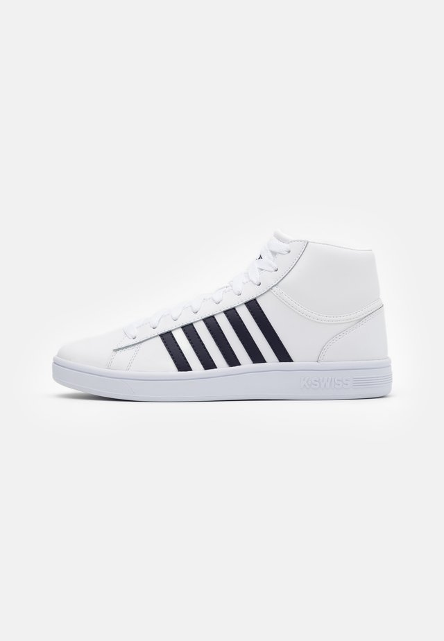 COURT WINSTON MID - Høye joggesko - white/navy