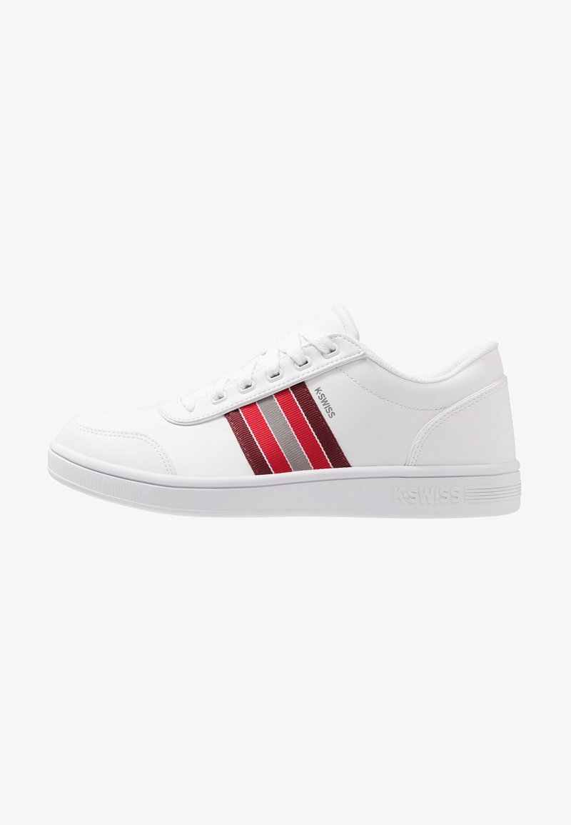 K-SWISS - COURT CLARKSON - Sneakers - white/port/red