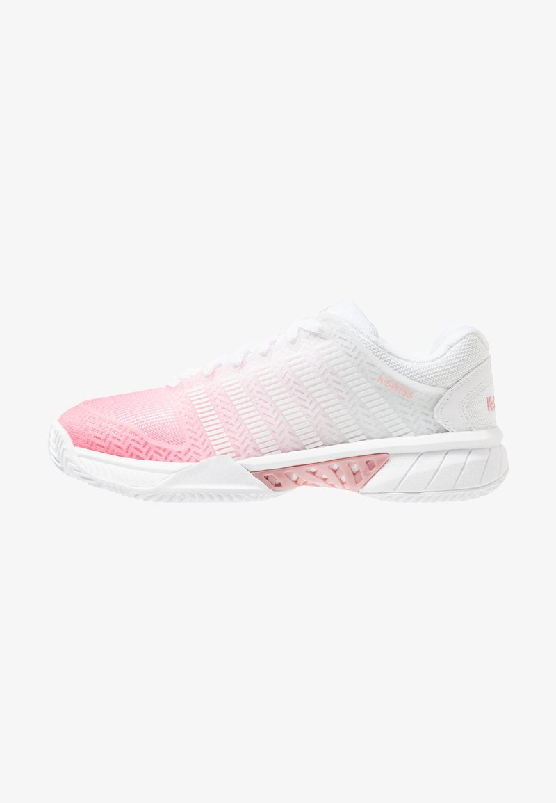 K-SWISS - HYPERCOURT EXPRESS HB  - Clay court tennis shoes - white/pink lemonade/coral blush