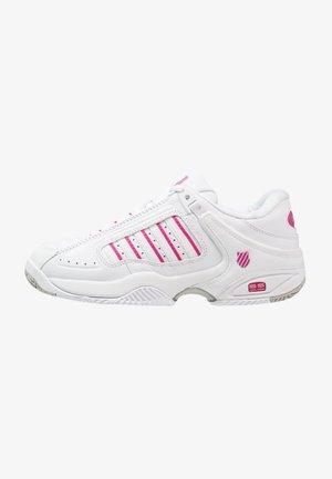 DEFIER RS - Chaussures de tennis toutes surfaces - white/very berry