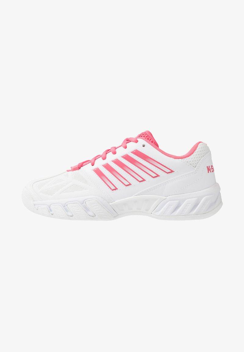 K-SWISS - BIG SHOT LIGHT 3 CARPET - Carpet court tennis shoes - white/pink lemonade