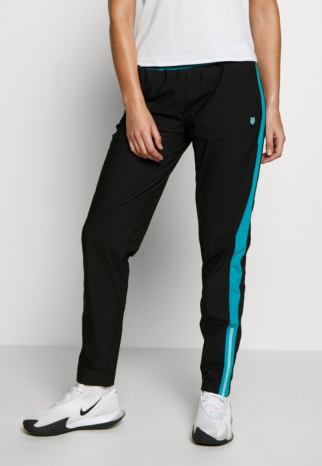 HYPERCOURT WARM UP PANT - Verryttelyhousut - limo black/algiers blue