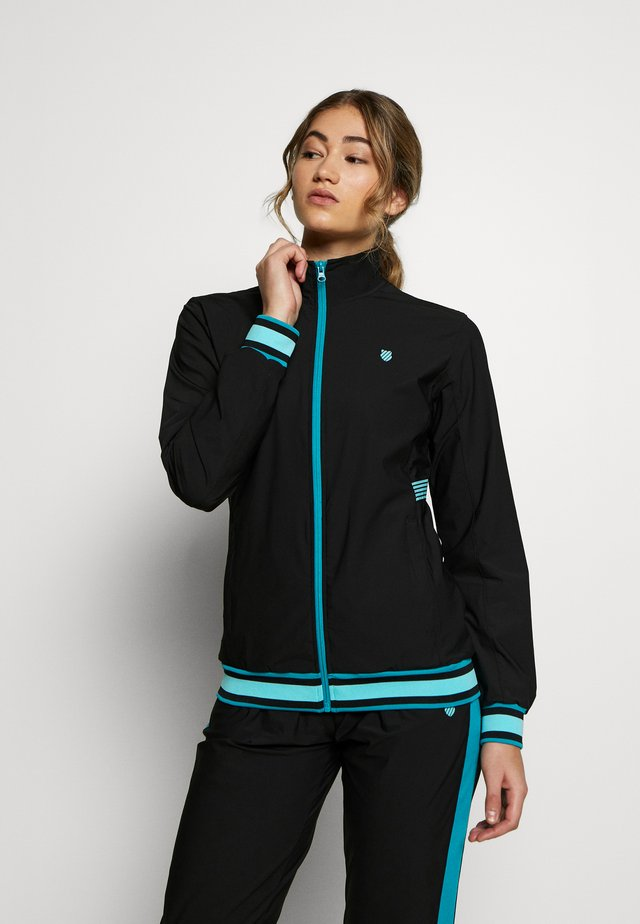 HYPERCOURT WARM UP JACKET - Verryttelytakki - limo black/algiers blue
