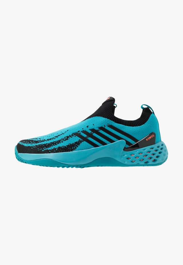 AERO KNIT - All court tennisskor - algiers blue/black/soft neon orange