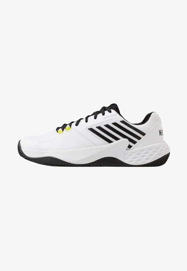 AERO COURT HB - Tennisskor för grus - white/black/yellow