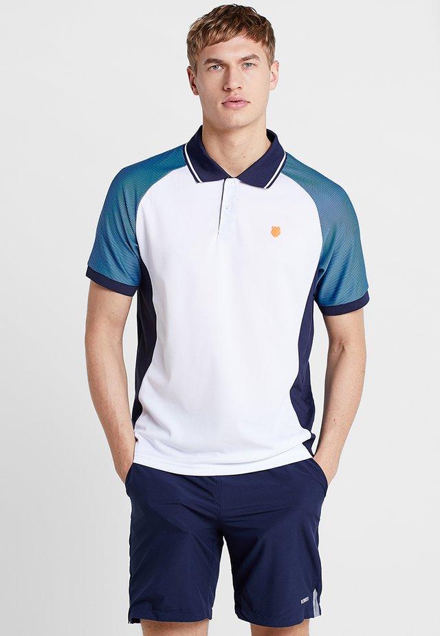 HYPERCOURT EXPRESS - Poloshirt - white/navy