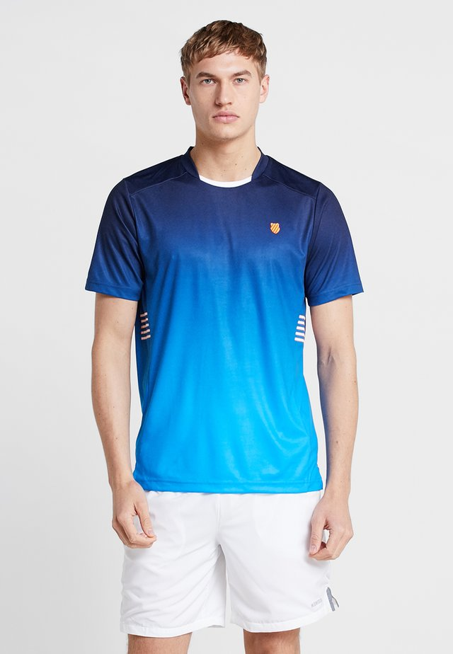 HYPERCOURT EXPRESS CREW TEE - T-shirt med print - navy/blue