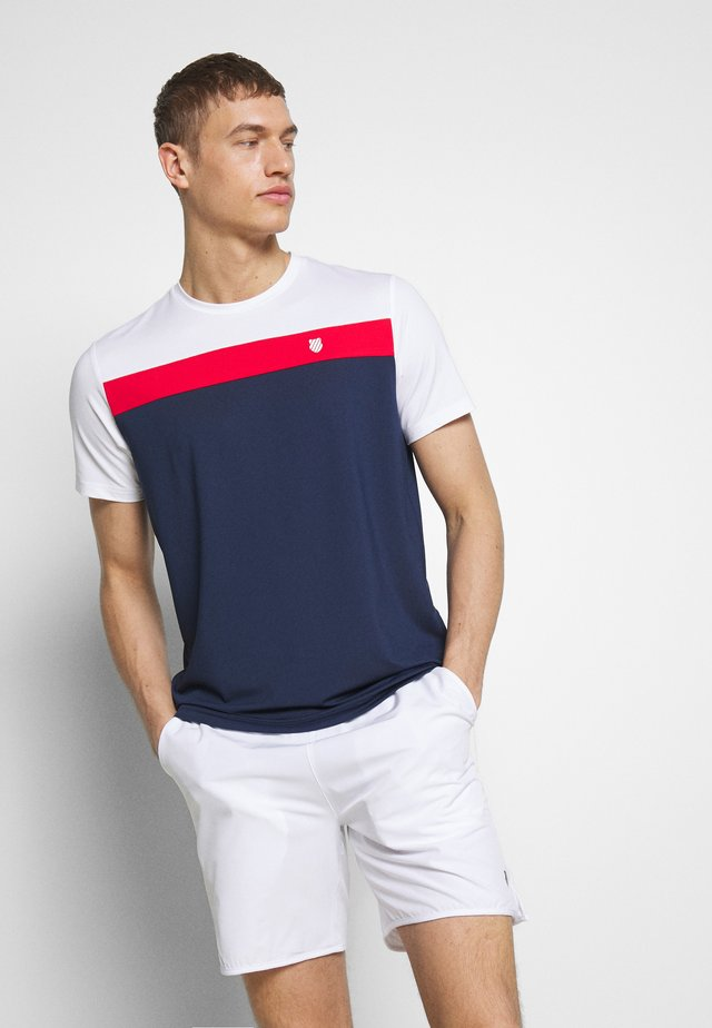 HERITAGE SPORT TEE CLASSIC - T-shirt imprimé - navy/red/white