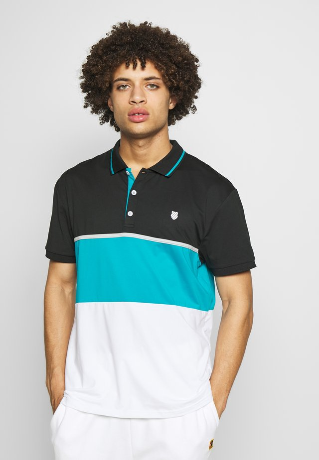 HYPERCOURT EXPRESS  - Poloshirt - white/algiers blue/limo black