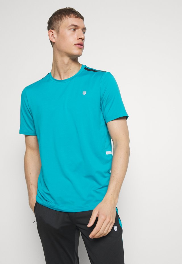 HYPERCOURT CREW TEE  - T-shirt imprimé - algiers blue
