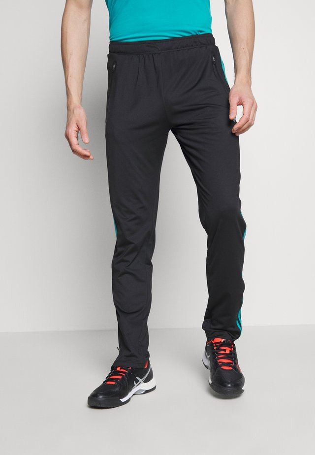 HYPERCOURT TRACKSUIT PANT - Pantaloni sportivi - limo black/algiers blue