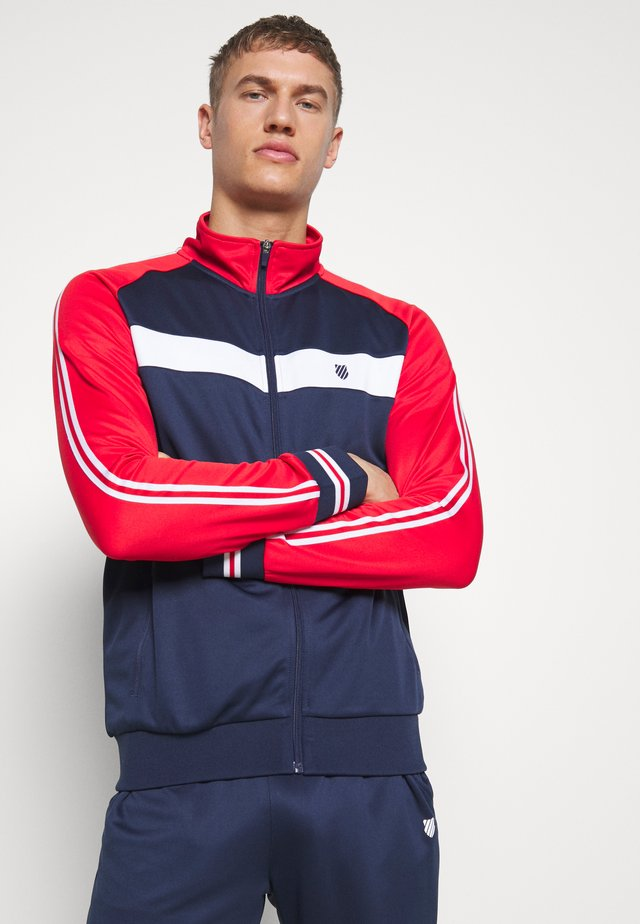 HERITAGE SPORT TRACKSUIT JACKET - Training jacket - navy/red
