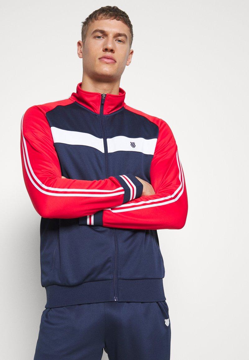K-SWISS - HERITAGE SPORT TRACKSUIT JACKET - Training jacket - navy/red