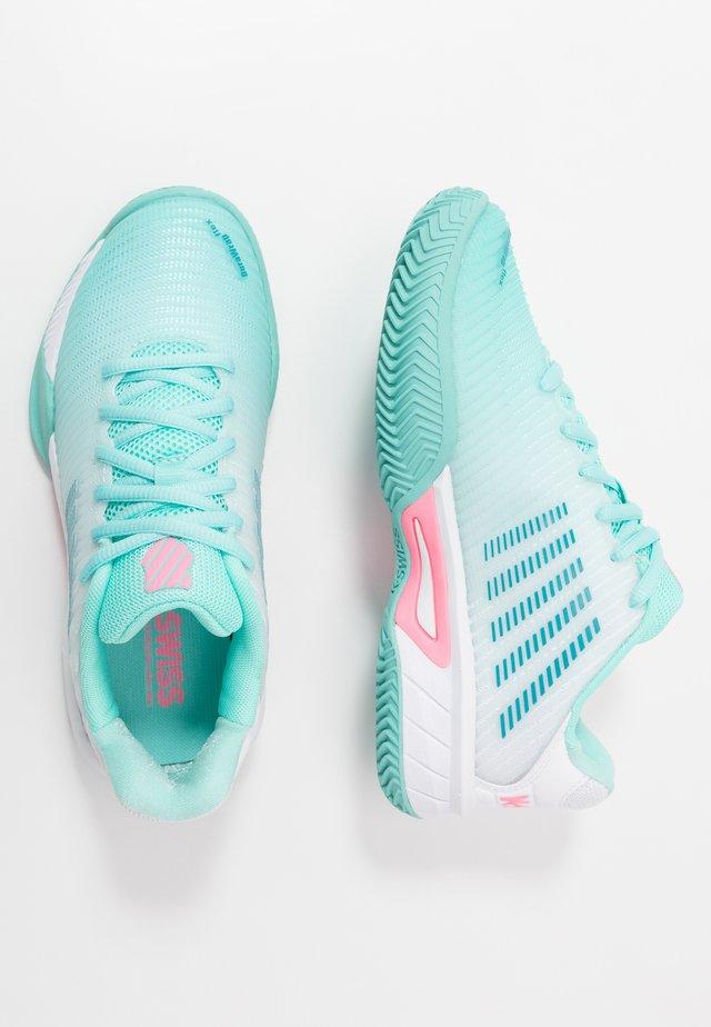 HYPERCOURT EXPRESS 2 HB - Tenisové boty na všechny povrchy - aruba blue/white/soft neon pink