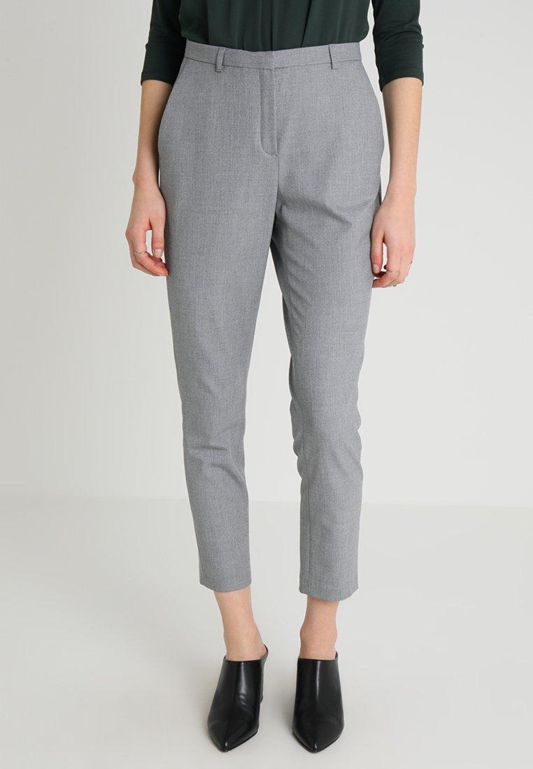 Karen by Simonsen - SYDNEY FASHION PANTS - Stoffhose - light grey melange