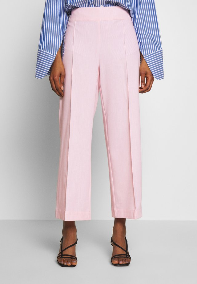 ALBAKB CROPPED PANTS - Trousers - primrose pink