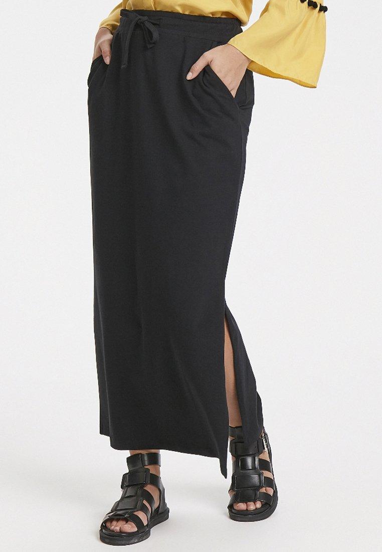 Karen by Simonsen - IMIO SOLID  - Maxi skirt - black