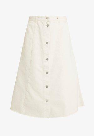 EVE - Áčková sukně - egret