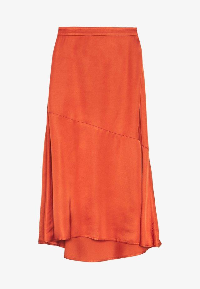 BRENNAKB SOLID SKIRT - A-linjekjol - orange rust