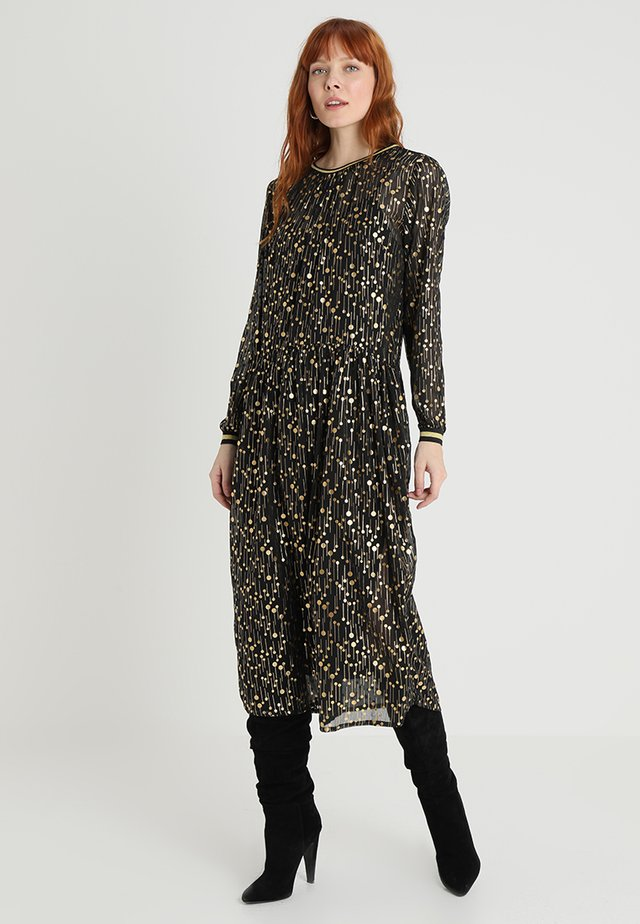HANAMI LONG DRESS - Maxi-jurk - meteorite black