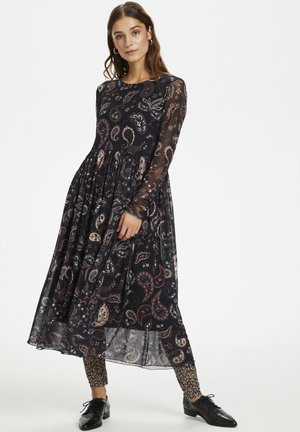 PEONYKB - Korte jurk - black