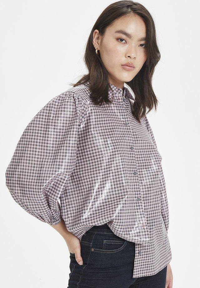 LIME - Button-down blouse - coral blush