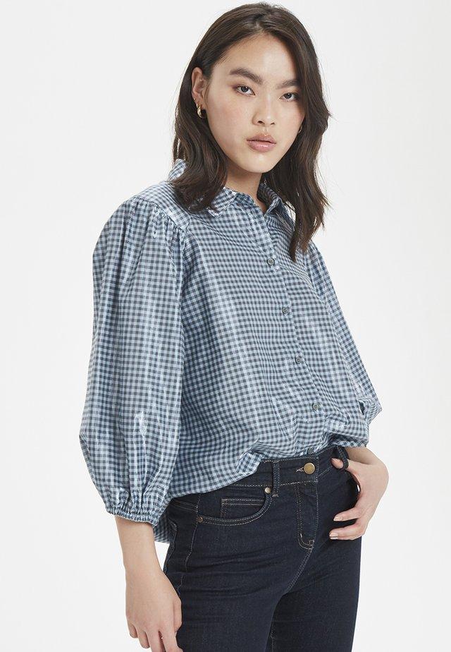 LIME - Button-down blouse - blue