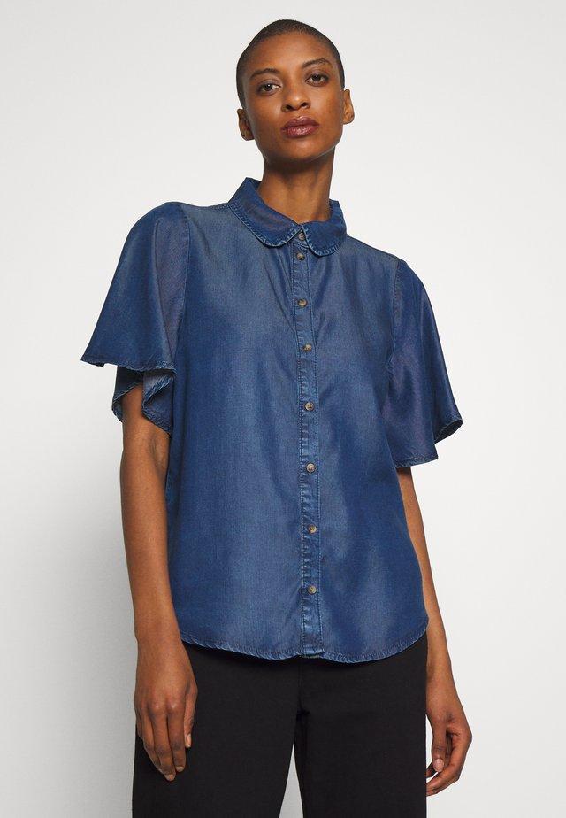TALIAKB SHIRT - Button-down blouse - estate blue