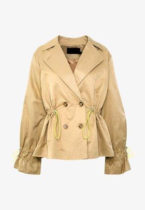 ENVA CROPPED TRENCHCOAT - Summer jacket - latté