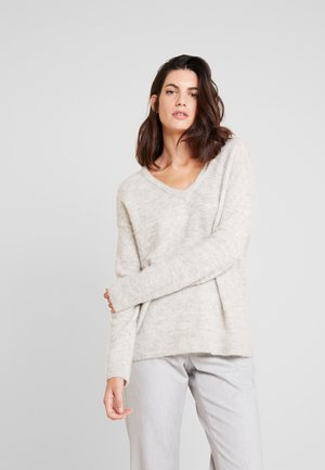 OMALLEY V NECK - Trui - light grey melange