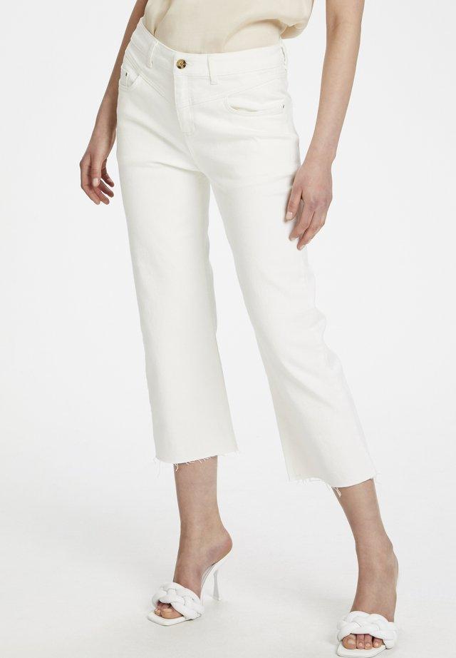 ARABELLEKB HW STRAIGHT JEANS - Jeansy Straight Leg - white swan