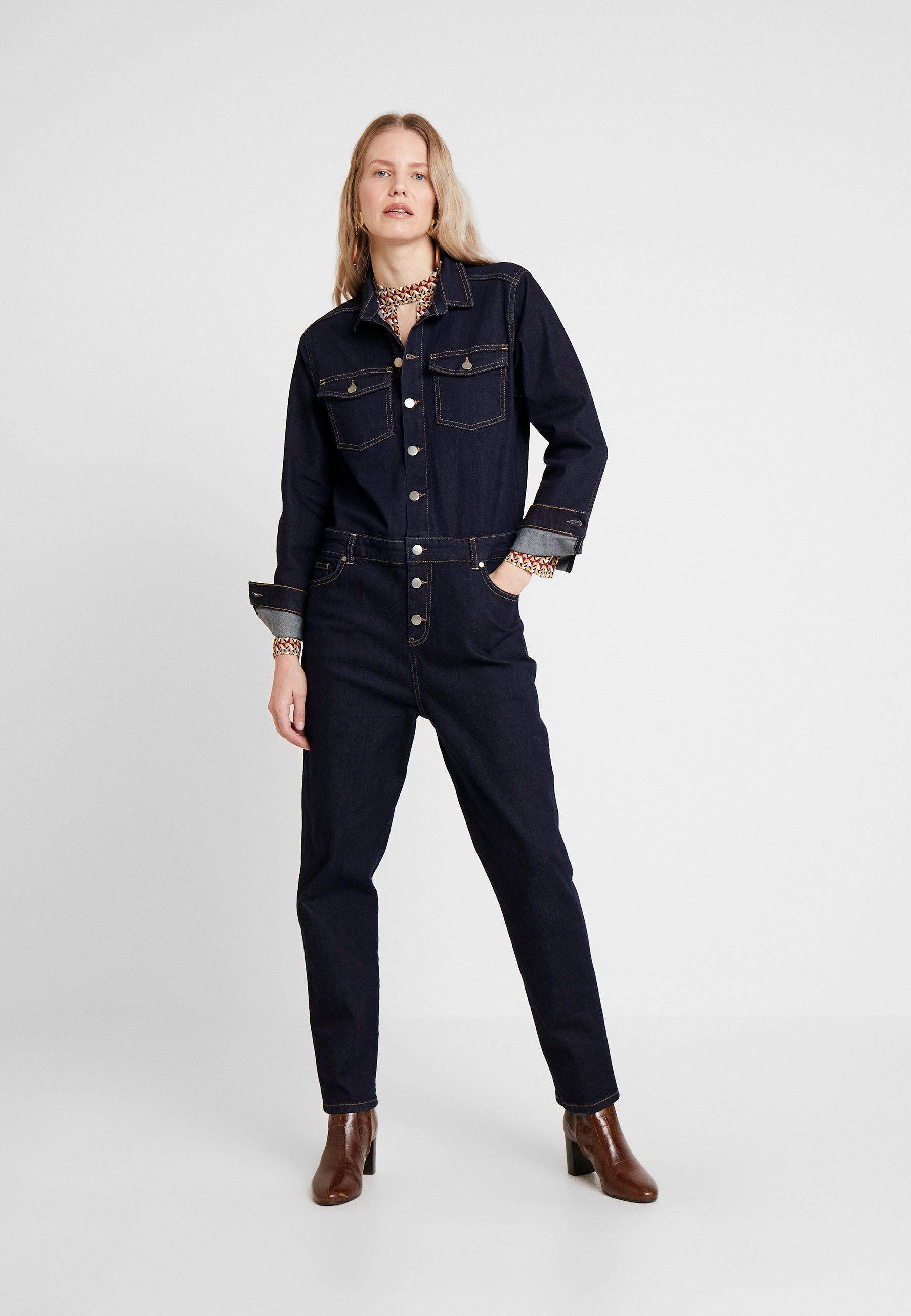 Karen By Simonsen Perspective - Overall / Jumpsuit Dark Denim Blue