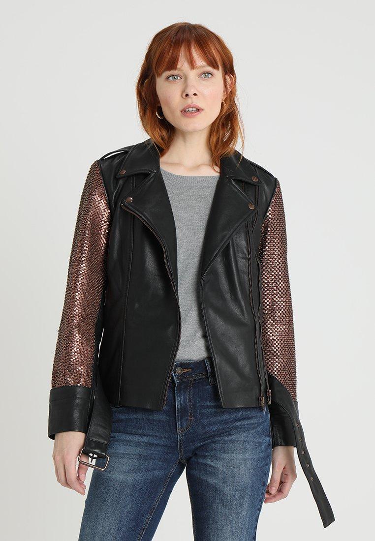 Karen by Simonsen - HOPE JACKET - Faux leather jacket - black