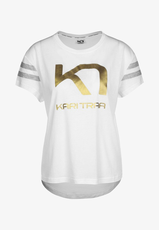VILDE  - Print T-shirt - white