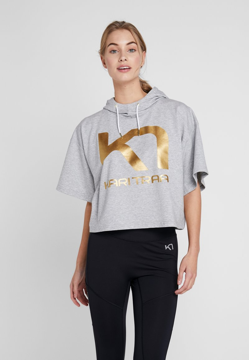 KariTraa - VICKY TEE - T-shirts print - grey melange