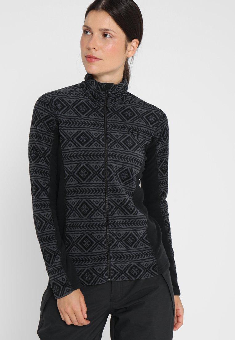 KariTraa - FLETTE  - Fleecová bunda - black